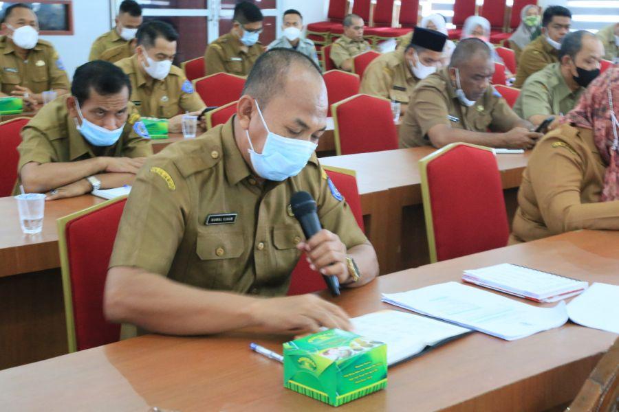 Gugus Tugas Kabupaten Labuhanbatu Lakukan Rapat Kordinasi Penanganan Covid-19