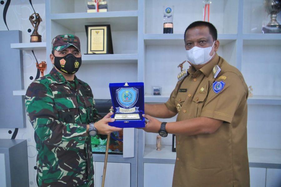 PJ.Bupati Labuhanbatu Terima Kunjungan Danlanal Tanjung Balai