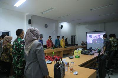 Forkopimda Labuhanbatu Dengarkan Pengarahan Presiden RI Ir. Jokowi Dodo