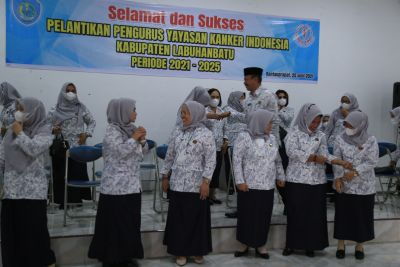 Pengurus Yayasan Kanker Indonesia Cabang Labuhanbatu Periode 2021-2025 Resmi Dilantik