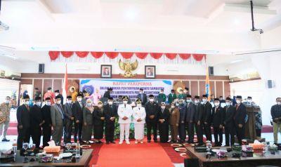 Sertijab Bupati dan Wakil Bupati Labuhanbatu Periode 2021-2024 Bupati Bacakan Pidato Pasca Pelantikan